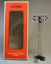 LIONEL FLOODLIGHT TOWER ILLUMINATED 8 blubs train track lighting NEW 6-14092