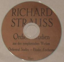 Richard Strauss Orchestral Studies for French Horn PDF printable Mini Disc.