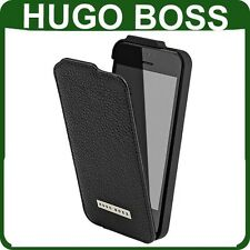 Genuine HUGO BOSS LEATHER FLIP CASE Apple iPhone 5 5s original book cover flap