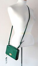 NWT Ralph Lauren Chiswell Multi Crossbody Dark Emerald Leather Wallet Bag $148