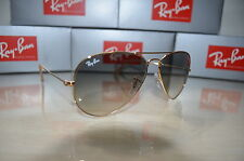 RAY BAN AVIATOR RB3025 Sunglsses Gray Gradient Lens, Gold Frame - Medium