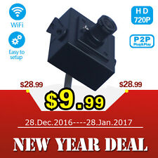 Mini Portable WIFI HD 720P IP Network Security Camera Wireless P2P +12V Adapter