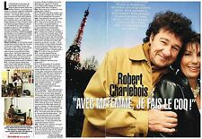 Coupure de presse Clipping 2004 (2 pages ) Robert Charlebois