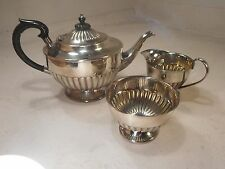 3 pc Silver Plated Teapot Set   ref 2244