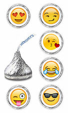 108 EMOJI HERSHEY KISSES LABELS FAVORS STICKERS 4 BIRTHDAY WEDDING ANY OCCASION