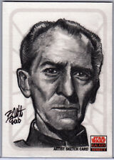 STAR WARS GALAXY 5 - ARTIST RETURN AP SKETCH CARD - TARKIN by BRYAN MORTON