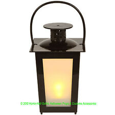 Frosted MINI BLACK LANTERN LED Lamp Light Party Prop Decoration-Battery INCLUDED