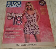 Britney Spears 18 Years Old USA Today Vintage Poster Magazine (2000)