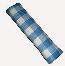 Blue Checked Gingham VW Campervan, Van or Car Seat Belt Harness Cover Pad x 2 BN