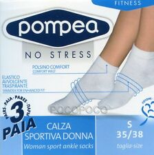 3 PAIRS OF SOCKS SPORTS WOMAN POMPEA