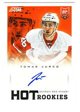 2013-14 Score Hot Rookie Signatures AUTOGRAPH #744 TOMAS JURCO AUTO Red Wings