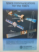 2/1977 PUB AEROSPATIALE PHEBUS AEROSAT SATELLITE ARIANE LAUNCH VEHICLE  AD