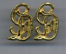 "n.2  "" GD "" tedesco in color oro per spalline GD 2 pcs gilt German GD cyphers"