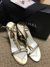Women's Chanel Shoes Gold Size 40