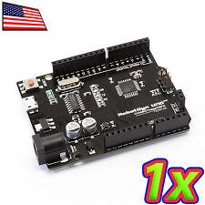 NEW UNO R3 Black Edition Micro USB ATMega328 CH340G Compatible Board for Arduino