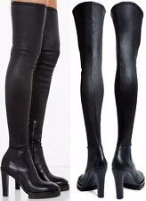 ACNE STUDIOS thigh high REVERY leather boots 39/9 BLACK