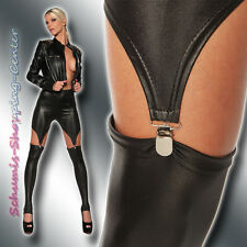 SEXY WETLOOK LEGGINGS 34-38 LACK LATEX LEDER OPTIK STRAPS SCHWARZ LEGGINS GOTHIC