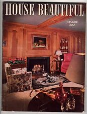 1944 House Beautiful March; He furnished his home with optical illusions; Sublet