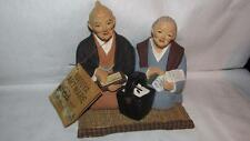 VINTAGE HAKATA URASAKI JAPANESE FIGURINES OLD FOLKS COUPLE STATUE