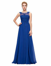 Women Lace Wedding Evening Formal Party Cocktail Gown Long Bridesmaid Prom Dress
