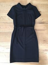 Vintage 1960s Black Rembrandt Mod Wiggle Dress With Belt 14 16