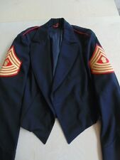 USMC US MARINE CORPS E-9 MASTER GUNNERY SERGEANT EVENING DRESS JACKET SIZE 42L