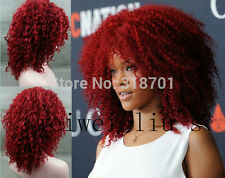 New Fashion Rihanna's Hairstyle Capless Synthetic Medium Curly hair Wig