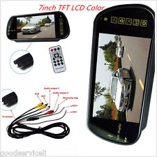 16:9 HD USB SD Bluetooth7inch TFT LCD Color MP5 FM Car Rear View Mirror Monitor