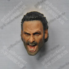 1/6 scale Head Sculpt Andrew Lincoln The Walking Dead Screaming Rick Grimes