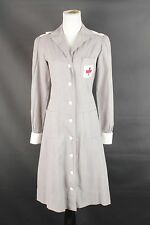VTG Women's WWII American Red Cross Volunteer Seersucker Uniform 1940s 40s #1294