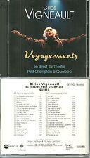 RARE / GILLES VIGNEAULT : AU THEATRE PETIT CHAMPLAIN A QUEBEC - 2 CD / CANADA
