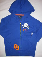 NWT Boys Baby Gap Royal Blue Skull Hoodie Sweatshirt Sz 3T