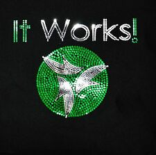 It Works ultra bling Sequins No rhinestones transfer Iron On Hot fix applique