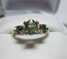 Outstanding .80ct Natural Rare Alexandrite 3 Stone 14kt Gold Ring-Beautiful C-C!
