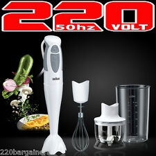 Braun MQ325 Omlette 220v Hand Blender With Chopper Whisk 220 Volts