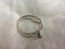 "European Sterling Silver Charms Snake Bracelet Chain 8.5"" with Snap clasp"