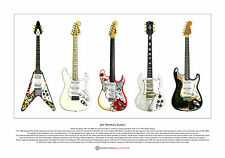 Jimi Hendrix's Guitars Limited Edition Fine Art Print A3 size