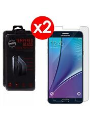 2 Pack Premium Tempered Glass Screen Protector For Samsung Galaxy Note 5
