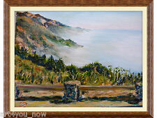 BIG SUR IN THE FOG California Art oil canvas 16x20 Galina Zaytseva Free Shipping