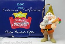 Grolier Disney Doc President's Edition Ornament Snow White and the 7 Dwarf Seven