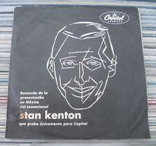 """STAN KENTON RECUERDO DE PRESENTACION EN MEXICO 1960 WLP MEXICAN 7"""" SINGLE PS"""