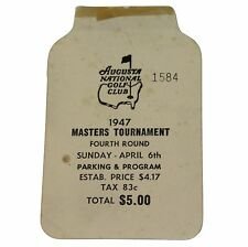1947 USED MASTERS GOLF BADGE~COLLECTORS ITEM~VERY VERY RARE TICKET~DEMARET