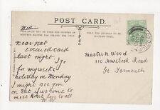 Master Nat Wood Havelock Road Great Yarmouth 1905 300a