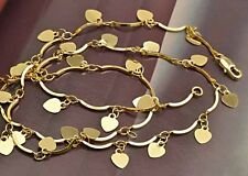 """24"""" lovely 9K Yellow Gold Filled Heart Charms Womens Necklace,F2609"""