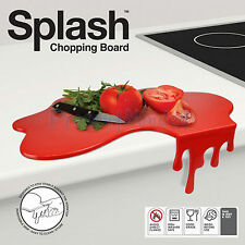 SPLASH CHOPPING BOARD Novelty Red Spill Chopping Board KITCHEN GIFT IDEA