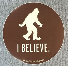 GREAT DIVIDE BREWING CO YETI I BELIEVE Sticker 4in si Brewery
