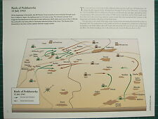 WW2 WWII MAP ~ OPERATION OF PROKHOROVKA 12 JULY 1943 GERMAN TANK FORMATION