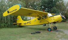 PZL 101A Gawron Agricultural Utility Aircraft Mahogany Kiln Dry Wood Model Large