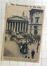 1923 American Trackless Locomotive Passing The Royal Exchange