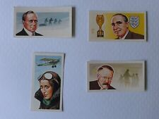 Brooke Bond Tea Cards Famous people card nos 14/26/41/48 In Pristine Condition